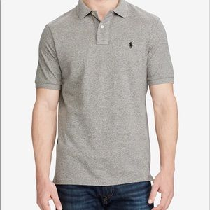 Men's polo gray Medium short sleeve shirt